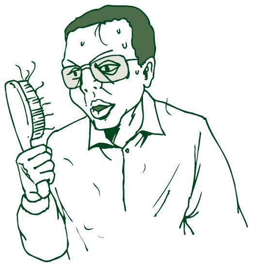 薄毛に悩む男性